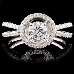 18K White Gold 0.76ctw Diamond Ring