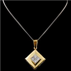 18K Yellow Gold 1.43ctw Diamond Pendant