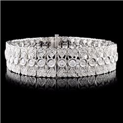 18K White Gold 4.27ctw Diamond Bracelet