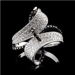 14K White Gold 1.07ctw Fancy Color Diamond Ring