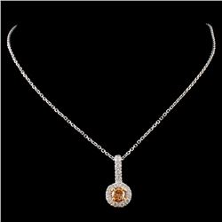 14K White Gold 0.40ctw Fancy Diamond Pendant