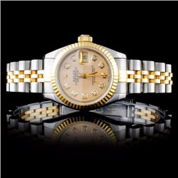 Rolex DateJust Ladies Diamond Wristwatch