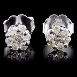 14K White Gold 0.25ct Diamond Earrings