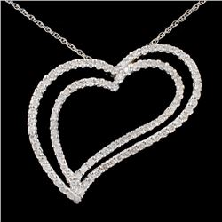 14K White Gold 1.52ct Diamond Pendant