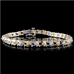 14K Two-Tone 1.00ctw Diamond Bracelet