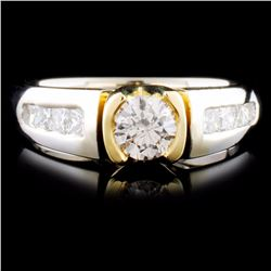 14K TT Gold 1.05ctw Diamond Ring