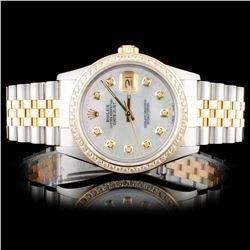 Rolex TwoTone DateJust 1.25ct Diamond Wristwatch
