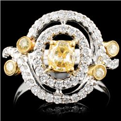 18K Gold 1.11ctw Fancy Color Diamond Ring
