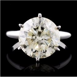 18K White Gold 5.04ct Solitaire Diamond Ring