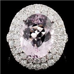 14K Gold 4.39ct Morganite & 2.22ctw Diamond Ring