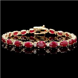 `14k Gold 15ct Ruby 0.60ct Diamond Bracelet
