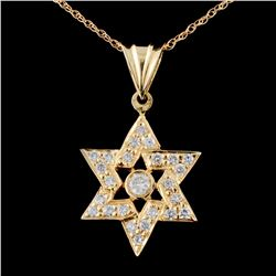 18K Gold 1.08ctw Diamond Pendant