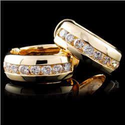 14K Gold 1.31ctw Diamond Earrings