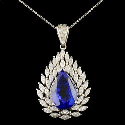 14K Gold 14.00ct Tanzanite & 3.26ctw Diamond Penda