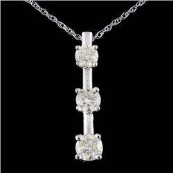 14K Gold 1.00ctw Diamond Pendant
