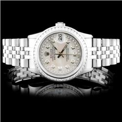 Rolex SS 31mm DateJust 1.50ct Diamond Wristwatch