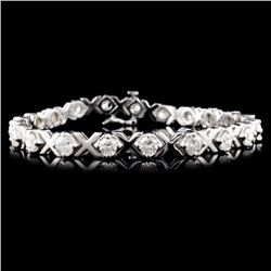 14K Gold 5.00ctw Fancy Diamond Bracelet