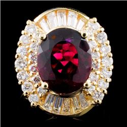 14K Gold 4.02ct Tourmaline & 1.36ctw Diamond Ring