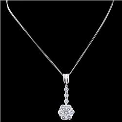 18K White Gold 1.23ct Diampnd Pendant