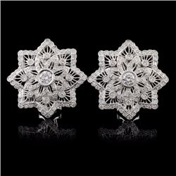 18K White Gold 1.24ct Diamond Earrings