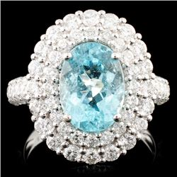 18K Gold 2.78ct Paraiba Tourmaline & 1.88ctw Diamo