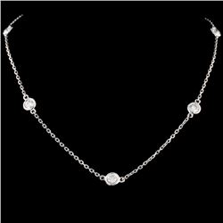 14K Gold 1.40ctw Diamond Necklace