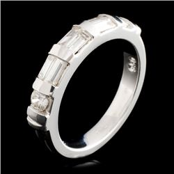 Platinum 0.56ctw Diamond Ring
