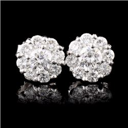 18K White Gold 1.16ctw Diamond Earrings