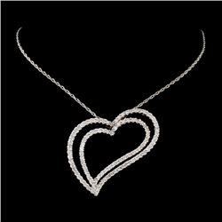 18K White Gold 1.52ctw Diamond Necklace