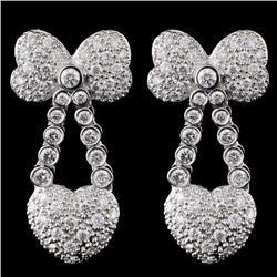 18K White Gold 1.28ct Diamond Earring