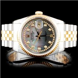 Rolex Two-Tone DateJust Diamond Watch