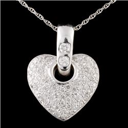 14K White Gold 2.23ctw Diamond Pendant