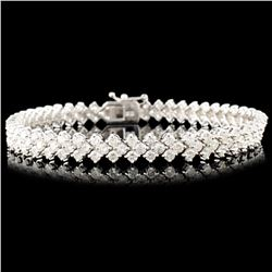 18K Gold 6.00ctw Diamond Bracelet