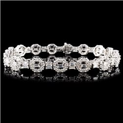 18K Gold 4.54ctw Diamond Bracelet