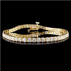 14K Gold 4.52ctw Diamond Bracelet