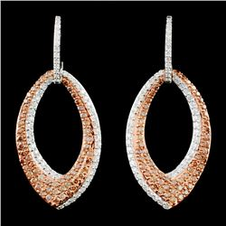 14K Gold 1.46ctw Fancy Color Diamond Earrings