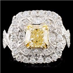 18K Gold 2.87ctw Fancy Diamond Ring