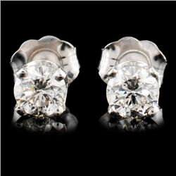 14K Gold 0.66ctw Diamond Earrings