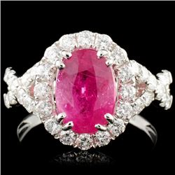 18K Gold 2.81ct Ruby & 1.00cw Diamond Ring