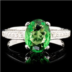 14K Gold 1.74ct Tsavorite & 0.45ctw Diamond Ring