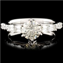 18K White Gold 1.50ctw Diamond Ring