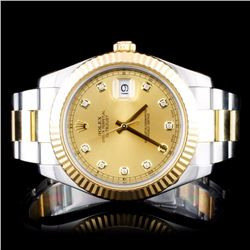 Rolex Two-Tone 41MM DateJust II Diamond Wristwatch