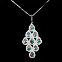 14K Gold 2.36ctw Fancy Color Diamond Pendant