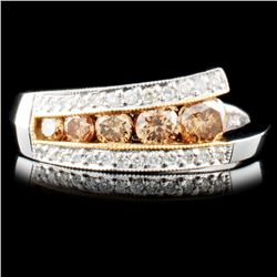 14K Gold 0.73ctw Fancy Color Diamond Ring