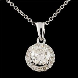 14K Gold 0.69ctw Diamond Pendant