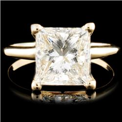 14K Gold 3.02ct Solitaire Diamond Ring