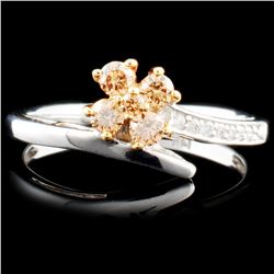 14K Gold 0.27ctw Fancy Color Diamond Ring