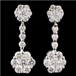 18K Gold 2.29ctw Diamond Earrings