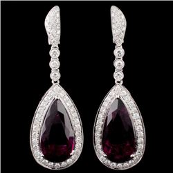 18K Gold 16.94ctw Tourmaline & 2.68ctw Diamond Ear