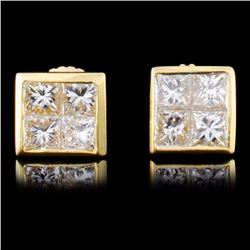 18K Gold 0.95ctw Diamond Earrings